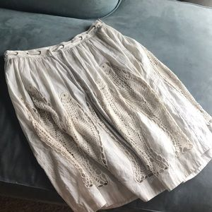 Anthropologie skirt with fish size 6